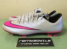 Nike Jr Mercurial Vapor X FG Grey Hyper Pink Youth Sz 6Y/ Women's Sz 7.5 NEW!!!