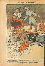 Caricature Politique Traité de Versailles Scapa Flow Germania 1919 ILLUSTRATION