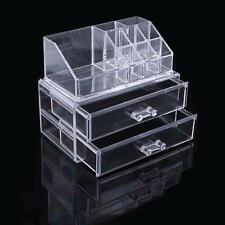 Makeup Cosmetics Organizer Clear Acrylic Drawers Display Box Storage Desk Stuff