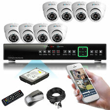 8 x Sony Effio-e CCD Infrared HD-MI8 CH Full D1 Live Viewing P2P CCTV System 2TB