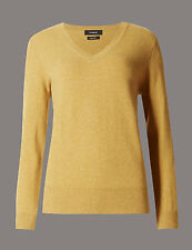 M&S COLLECTION Pure Cashmere V-Neck Jumper  size 16 BNWT