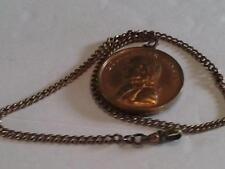 Bronze Medal Allusive to Napoleon Bonaparte Consul Vintage Pocket Watch Chain