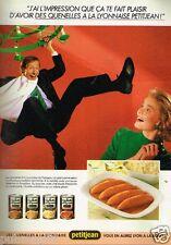 Publicité advertising 1986 Les Quenelles Petitjean