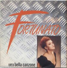 "FLAVIA FORTUNATO - Una bella canzone - VINYL 7"" 45 LP 1988 NEAR MINT COVER VG+"