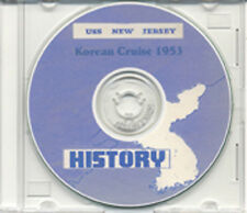 USS New Jersey BB 62 Korea War 1953 CRUISE BOOK CD RARE