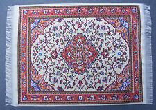 1:12 Scale 25cm x 17.5cm Woven Turkish Rug Doll House Miniature Carpet P37L