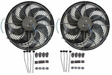 "2sets 14"" Heavy Duty Radiator Electric Wide Curved Blade FAN 3000 CFM Reversible"