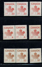 CANADA COILS SC908 (NON DENOMINATED) SC950 SC951 PAIRS AND SINGLE MNH