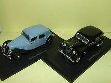 CITROEN TRACTION 11 & 22 LOT DE 2 UNIVERSAL HOBBIES sur socle 1:43 défaut