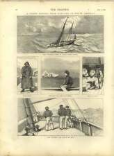 1875 Yachting Voyage From England To North America
