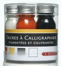 J HERBIN CALLIGRAPHY INK SET - 5 colours in 10ml bottles