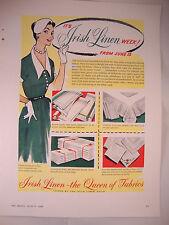 """Full Page 1953 Vintage Magazine Advert Irish Linen Guild """"It's Irish Linen Week"""""""