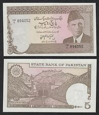 Pakistán  5 Rupees  ND 1984-1999  Pick 38(3)   SC = UNC