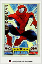 2011 Topps Marvel Universe Hero Attax Collectors Card Rainbow Foil #5 spiderman