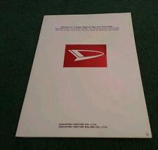 1978 1979 DAIHATSU CORPORATE 28pg BROCHURE Max Cuore Charade Charmant F20 F50