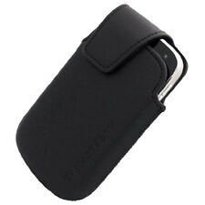 NEW OEM Blackberry BOLD 9900 BK Leather Pouch w Holster Swivel Clip HDW-38842001