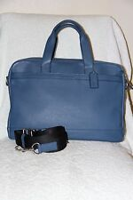 NWT COACH F71561 MAN'S HUDSON SMOOTH LEATHER Bag/Briefcase in Marine