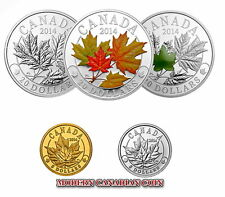 CANADA $20 1oz FINE SILVER COIN- MAJESTIC MAPLE LEAVES IN  PURE GOLD & PLATINIUM