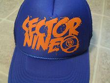 SECTOR NINE Blue & Orange Logo Snapback HAT Mesh Trucker Skateboard Skater NICE