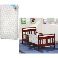 Toddler Bed Kid Crib Baby Relax Bedroom Furniture Espresso WITH MATTRESS Bundle