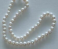 "8MM Super White South Sea Shell Pearl Necklace 18"" NEW (silk gift bag)"