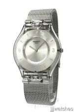 New Swatch Skin Metal Knit Steel Mesh Band Women Watch 35mm SFM118M $125