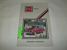 1988 GMC SAFARI OWNER'S MANUAL.  /  FREE S/H  /  VERY NICE CONDITION