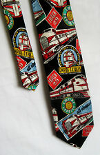 Addiction Empire Express Train New York to LA 100% Silk Men's Neck Tie  Necktie
