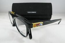 Dolce & Gabbana DG 3187 501 Black New Authentic Eyeglasses 52/17/140mm w/Case
