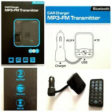NEW 10 IN 1 Wireless Bluetooth FM Transmitter Modulator HANDSFREE USB LCD SD MP3