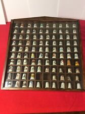 LOT OF (98) Collectible Thimbles With Shadow Box Various Types.