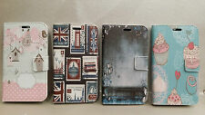 custodia cover case glo flip libro per Huawei Ascend G6 LTE gufo farfalla london