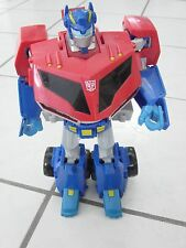 "Transformers 2008 Animated Leader Class Autobot Optimus Prime 12"" mouth moves"
