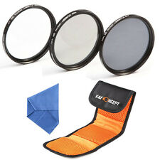 58mm Slim UV CPL Circular Polarizing ND4 Lens Filter Kit For Canon T4i T5i 18-55