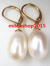 natural 10x14 mm white south sea  Pearl Stud Earrings 14k  GOLD