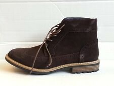 Joseph Abboud Lewis Men Wingtip Boots Size 8.5 Chocolate Suede New in box