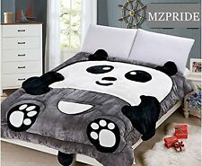 Super Soft Flannel Panda Comforter Bedding Set Cute Cartoon Kids Quilt 59''*77''
