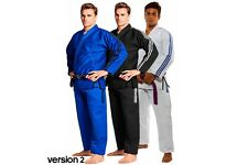 Adidas Contest BJJ Gi Mens IBJJF Jiu Jitsu Suit Black Blue White Uniform A1-A5