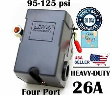 Air Compressor Pressure Control Switch 95-125 psi 4 FOUR PORT 26A HEAVY-DUTY