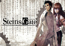 STEINS GATE - ANIME POSTER PRINT - WALL ART - OKABE & MAKISE - BUY 2 GET 1 FREE