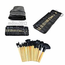 24Pcs Professional Soft Cosmetic Makeup Brush Set Kit +Pouch Bag Case