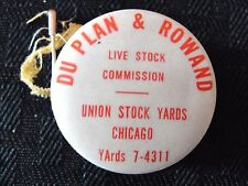 c.1940 UNION STOCK YARDS TAPE HENRY DU PLAN WESTERN SPRINGS IKE ROWAND OSWEGO IL
