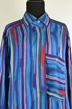 Escada Women's Button Down Shirt Size 34 Europe Silk Germany Size 4 US Colorful