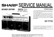 Sharp GF-767 and 777 Boombox Cassette Service and User Manuals