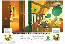 Publicité Advertising 1973 (4 pages) La peinture Valentine
