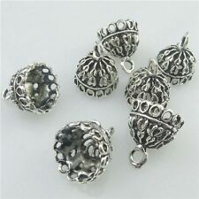 18219 15PCS Alloy Tibetan Silver 14.5mm Round Beads Cap End Pendant For Tassels