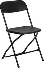 LOT of  50 NEW BLACK LIGHTWEIGHT Plastic Folding Chair