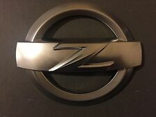 1x REAR 370Z SATIN SILVER Z LOGO BADGE EMBLEM 370 Z FAIRLADY