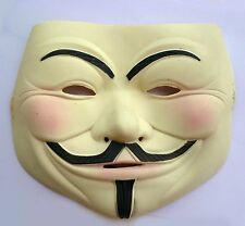 Premium Latex V FOR VENDETTA Anonymous Guy Fawkes Halloween Masquerade Mask
