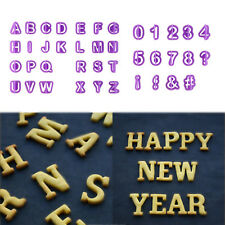 40Pcs Alphabet Number Letter Fondant Cake Cookie Cutter Pan Mold Biscuit UR